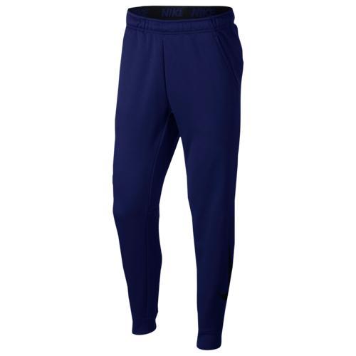 (取寄)ナイキ メンズ サーマ フリース テーパード パンツ Nike Men's Therma Fleece Tapered Pants Blue Void Black