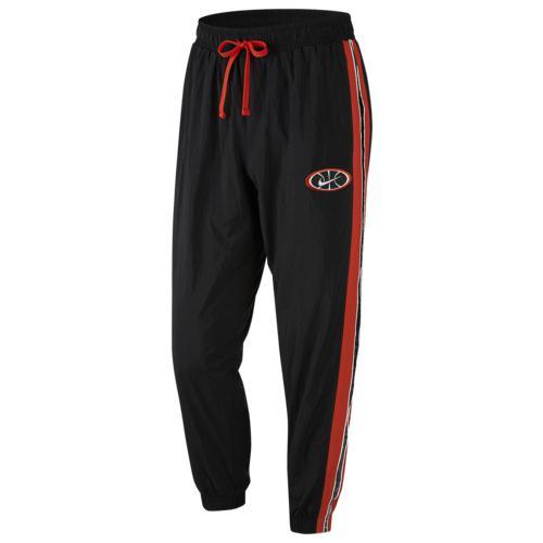 (取寄)ナイキ メンズ スロウバック ウーブン パンツ Nike Men's Throwback Woven Pants Black Team Orange