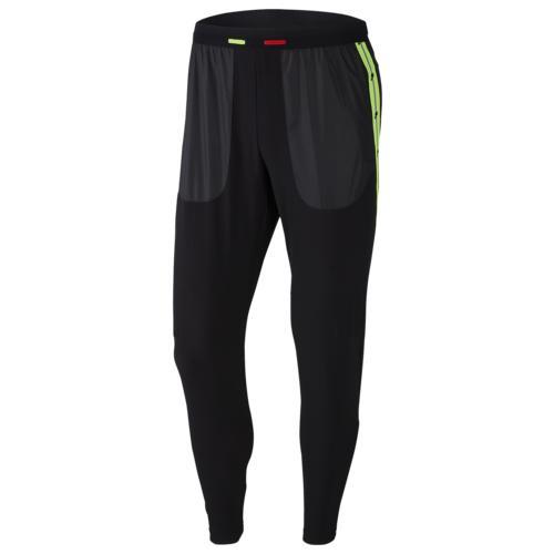 (取寄)ナイキ メンズ ワイルド ラン フェノム パンツ 2 Nike Men's Wild Run Phenom Pant 2 Black Electric Green Habanero Red