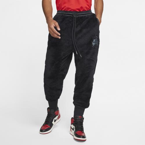 【クーポンで最大2000円OFF】(取寄)ジョーダン メンズ ウィングス シェルパ パンツ Jordan Men's Wings Sherpa Pants Black