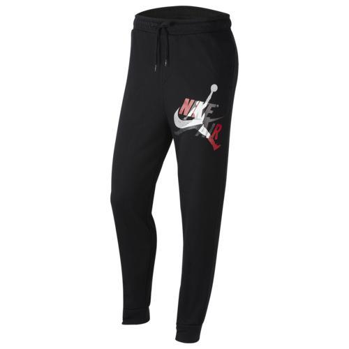 (取寄)ジョーダン メンズ ジャンプマン クラシック フリース パンツ Jordan Men's Jumpman Classics Fleece Pants Black Gym Red White