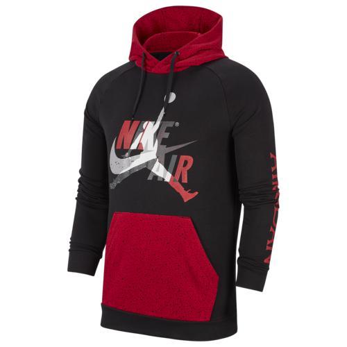 (取寄)ジョーダン メンズ ジャンプマン クラシック フーディ Jordan Men's Jumpman Classics Hoodie Black Gym Red