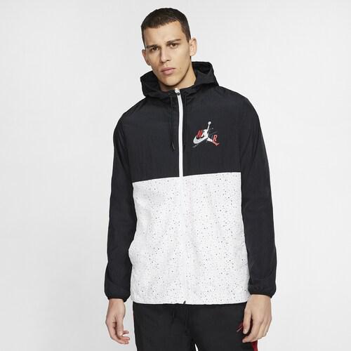 (取寄)ジョーダン メンズ ジャンプマン クラシック ウィンドウェア ジャケット Jordan Men's Jumpman Classics Windwear Jacket Black Gym Red White