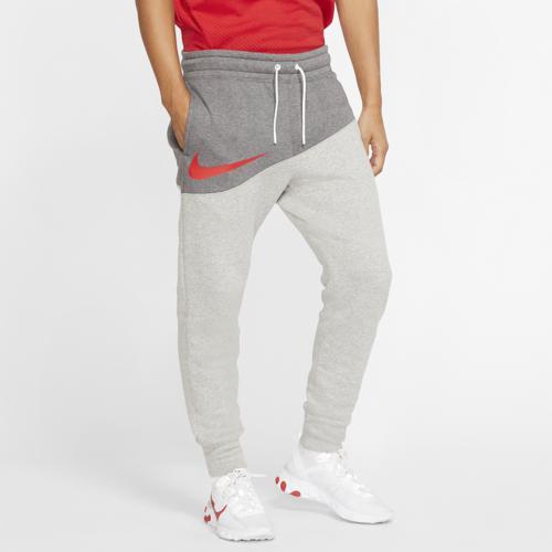 (取寄)ナイキ メンズ スウッシュ パンツ Nike Men's Swoosh Pants Charcoal Heather Dark Grey Heather University Red