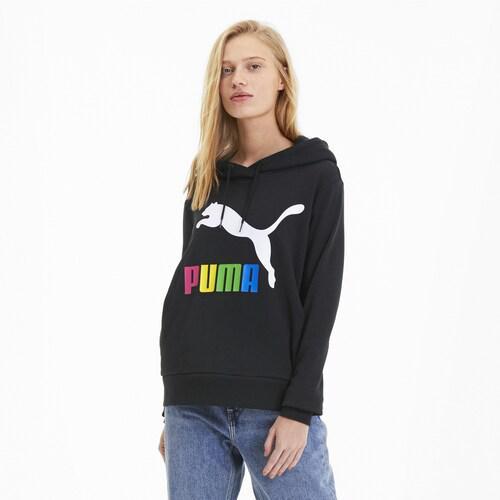 (取寄)プーマ レディース プーマ クラシック ロゴ フーディ Women's PUMA Classic Logo Hoodie Puma Black Multicolor