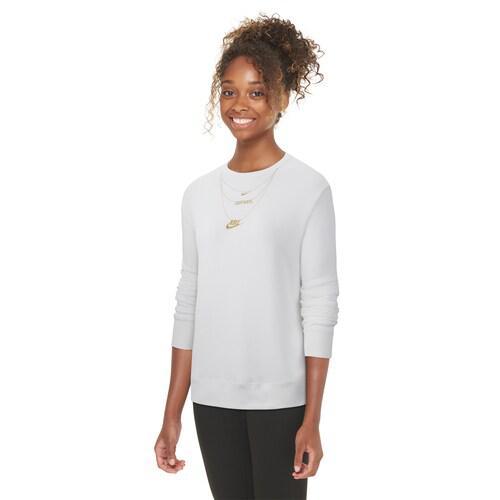 (取寄)ナイキ レディース フリース クルー Nike Women's Fleece Crew Gold White