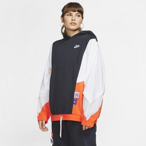 【エントリーでポイント5倍】(取寄)ナイキ レディース アイコン クラッシュ プルオーバー フーディ Nike Women's Icon Clash Pullover Hoodie Black
