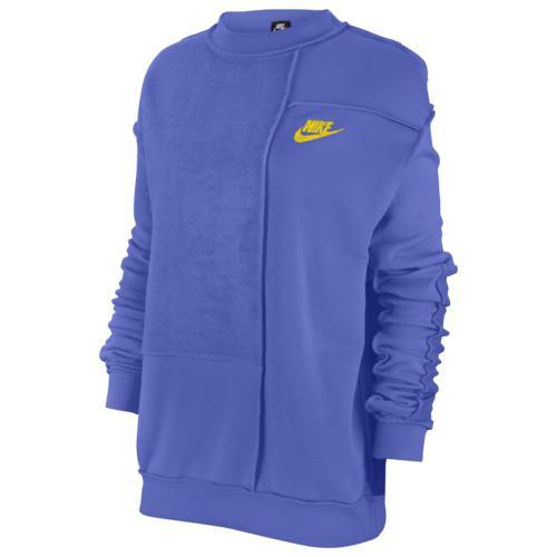 (取寄)ナイキ レディース アイコン クラッシュ フリース クルー Nike Women's Icon Clash Fleece Crew Sapphire