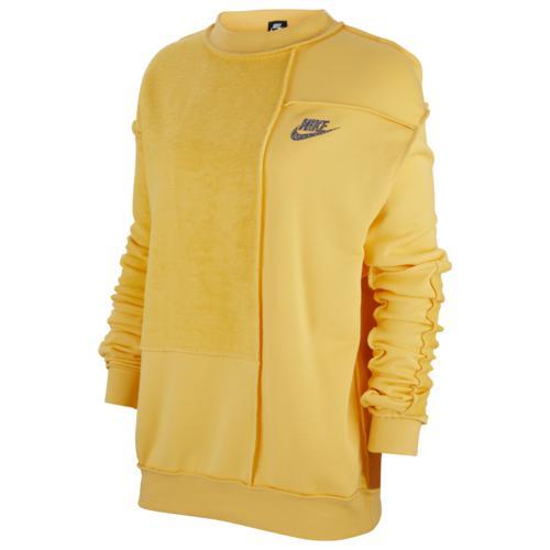 (取寄)ナイキ レディース アイコン クラッシュ フリース クルー Nike Women's Icon Clash Fleece Crew Topaz Gold