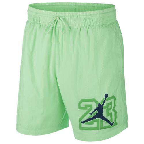 (取寄)ジョーダン メンズ レガシー AJ13 プールサイド ショーツ Jordan Men's Legacy AJ13 Poolside Shorts Illusion Green