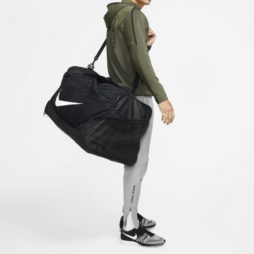 (取寄)ナイキ ブラジリア XL ダッフル Nike Brasilia XL Duffel Black White