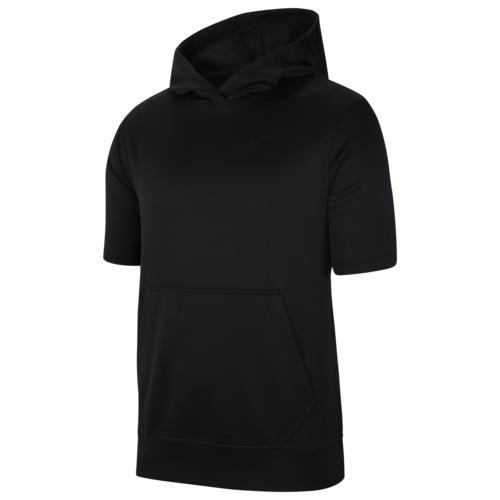 (取寄)ナイキ メンズ スポットライト ショート スリーブ フーディ Nike Men's Spotlight Short Sleeve Hoodie Black Black