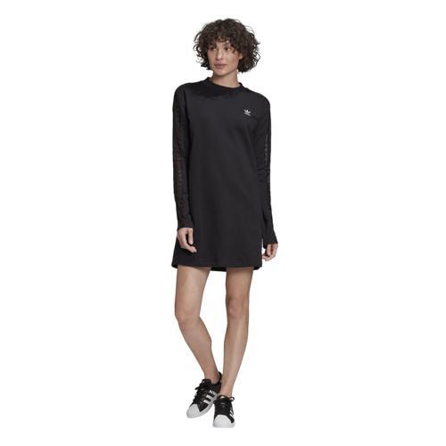(取寄)アディダス レディース オリジナルス ベリスタ レイス ロングスリーブ ドレス Women's adidas Originals Bellista Lace Long-Sleeve Dress Black