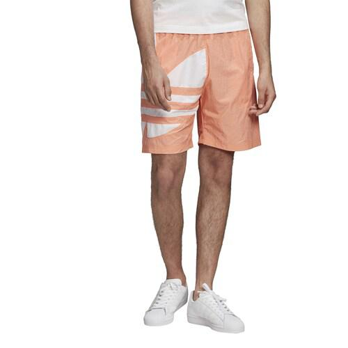 (取寄)アディダス メンズ オリジナルス ビッグ トレフォイル テープ ショーツ Men's adidas Originals Big Trefoil Tape Shorts Chalk Coral