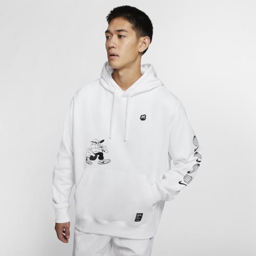 (取寄)ナイキ メンズ ルゴシス フリース プルオーバー フーディ Nike Men's Lugosis Fleece Pullover Hoodie White Black