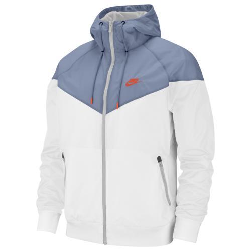 (取寄)ナイキ メンズ ウインドランナー フーデット ジャケット Nike Men's Windrunner Hooded Jacket White Indigo Fog Hyper Crimson