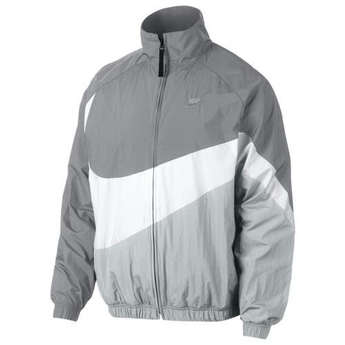 (取寄)ナイキ メンズ ラージ スウッシュ ウインドブレーカー Nike Men's Large Swoosh Windbreaker Wolf Grey White Pure Platinum