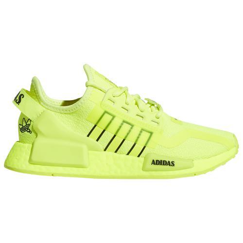 adidas アディダス シューズ ファッション ブランド 取寄 オリジナルス ボーイズ NMD R1 V2 - スクール originals White Boys' Black 流行のアイテム Boys グレード Yellow 美品 School Grade Shoes