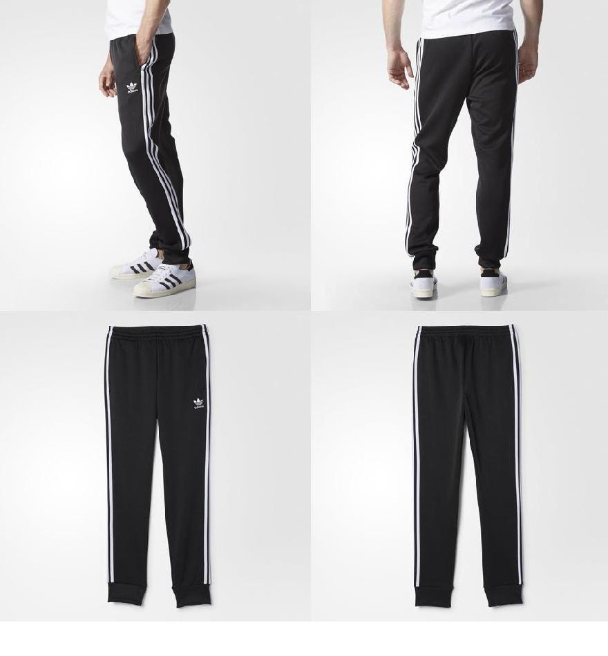 adidas Originals Mens Superstar Poly Cuffed Pants Sportswear Mens Sportswear COLOUR-black