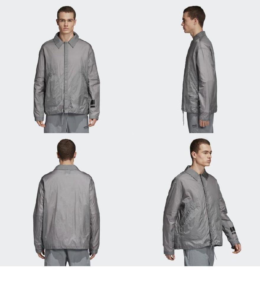 6b8d53fac117c (order) Adidas originals men NMD coach shirt jacket adidas originals Men s  NMD Coach Shirt Jacket Grey