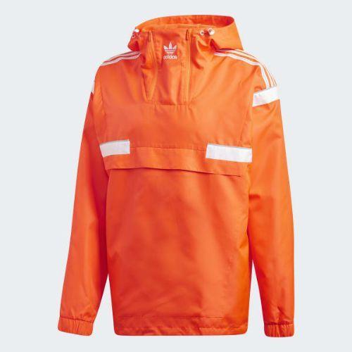 (取寄)アディダス オリジナルス メンズ BR8 ウインドブレーカー プルオーバー adidas originals Men's BR8 Windbreaker Pullover Solar Red