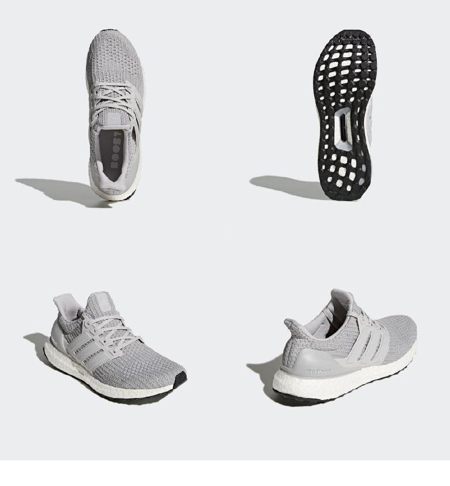 (order) Adidas men ultra boost running shoes adidas Men's Ultraboost Shoes  Grey / Grey