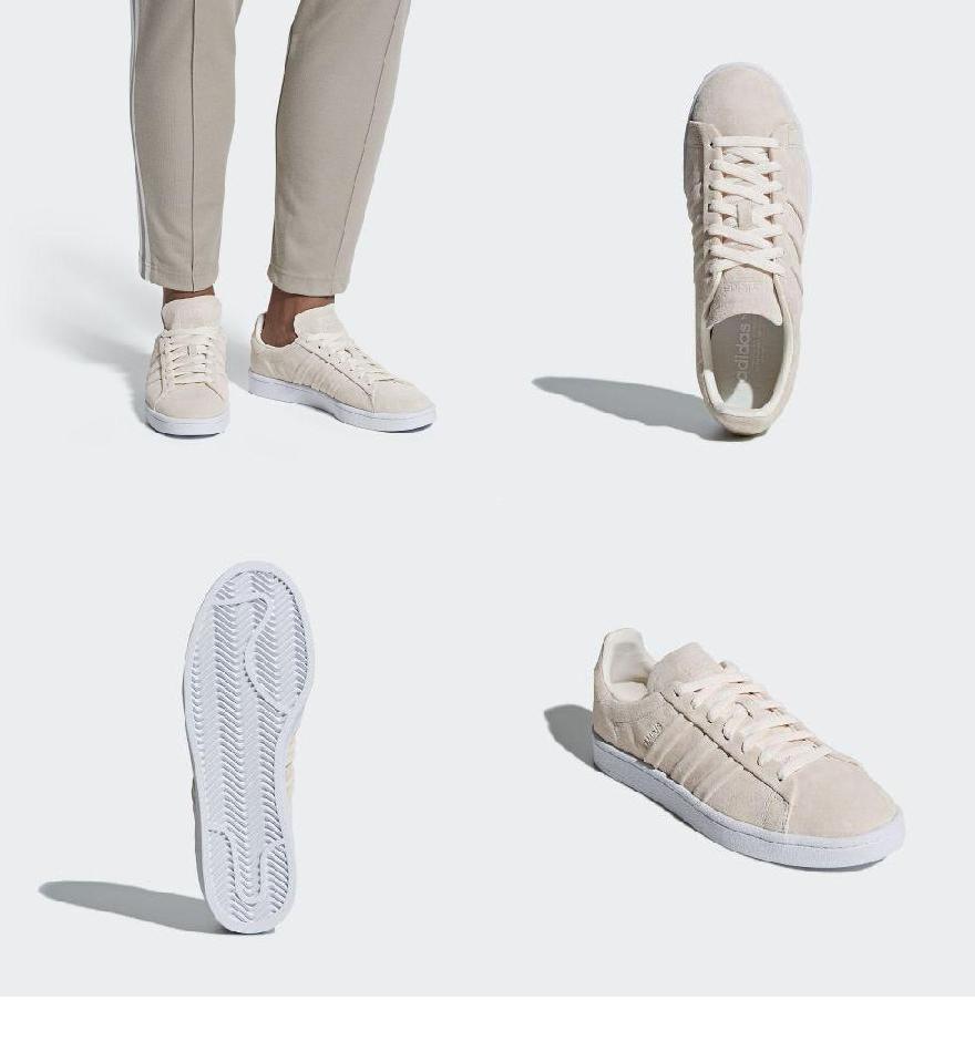 best website 6329d cb853 (order) Adidas originals men campus stitch and turn shoes adidas originals  Mens Campus Stitch and Turn Shoes Chalk White  Chalk White  Running White