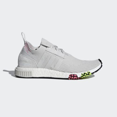 (取寄)アディダス オリジナルス メンズ エヌ・エム・ディー レーサー プライムニット シューズ adidas originals Men's NMD_Racer Primeknit Shoes Grey / Grey / Solar Pink
