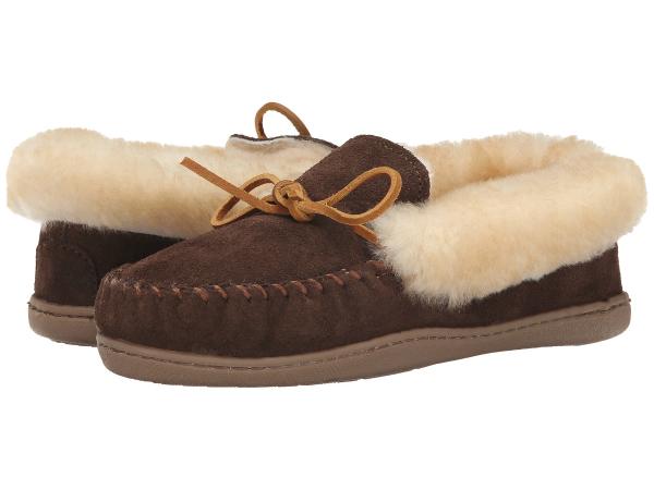(取寄)ミネトンカ レディース アルパイン シープスキン モック  Minnetonka Women Alpine Sheepskin Moc  Chocolate:ジェットラグ店