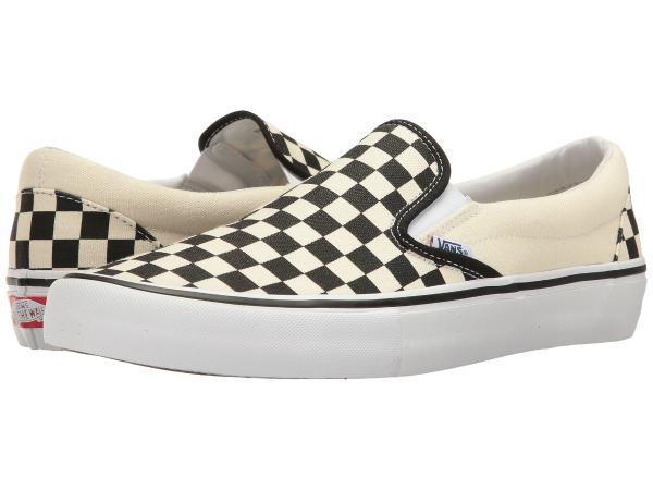 (取寄)Vans(バンズ) スリッポン スリップ-オン プロ メンズ Vans Men's Slip-On  (Checkerboard) Black/White