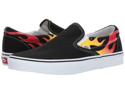 (order) Vans (vans) sneakers classical music slip unisex men gap Dis Vans  Unisex Classic Slip (Flame) Black Black True White 6303e4728