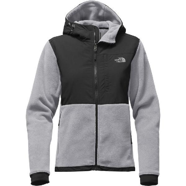 (取寄)ノースフェイス レディース デナリ 2 フーデッド フリース ジャケット The North Face Women Denali 2 Hooded Fleece Jacket Mid Grey/Tnf Black
