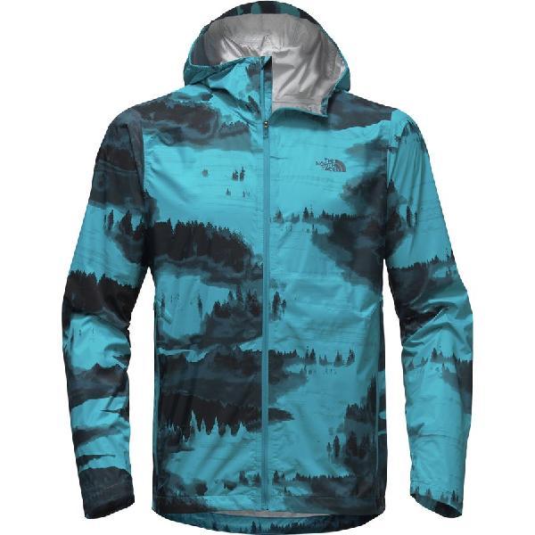 (取寄)ノースフェイス メンズ ストーミー トレイル フーデッド ジャケット The North Face Men's Stormy Trail Hooded Jacket Brilliant Blue Reflective Fog Print