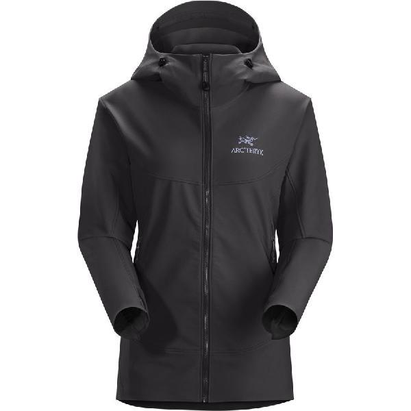 (取寄)アークテリクス レディース ガマー LT フーデッド ソフトシェル ジャケット Arc'teryx Women Gamma LT Hooded Softshell Jacket Black