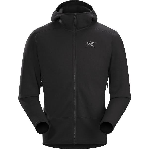 (取寄)アークテリクス メンズ カイヤナイト フーデッド フリース ジャケット Arc'teryx Men's Kyanite Hooded Fleece Jacket Black