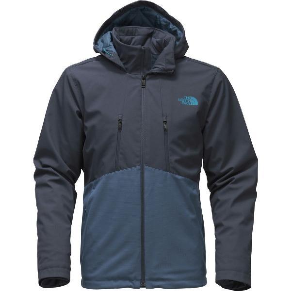 (取寄)ノースフェイス メンズ アペックス エレベーション フーデッド ソフトシェル ジャケット The North Face Men's Apex Elevation Hooded Softshell Jacket Urban Navy/Shady Blue
