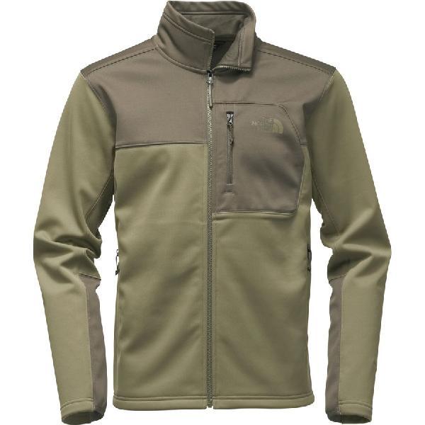 (取寄)ノースフェイス メンズ アペックス リソル ソフトシェル ジャケット The North Face Men's Apex Risor Softshell Jacket Burnt Olive Green/New Taupe Green