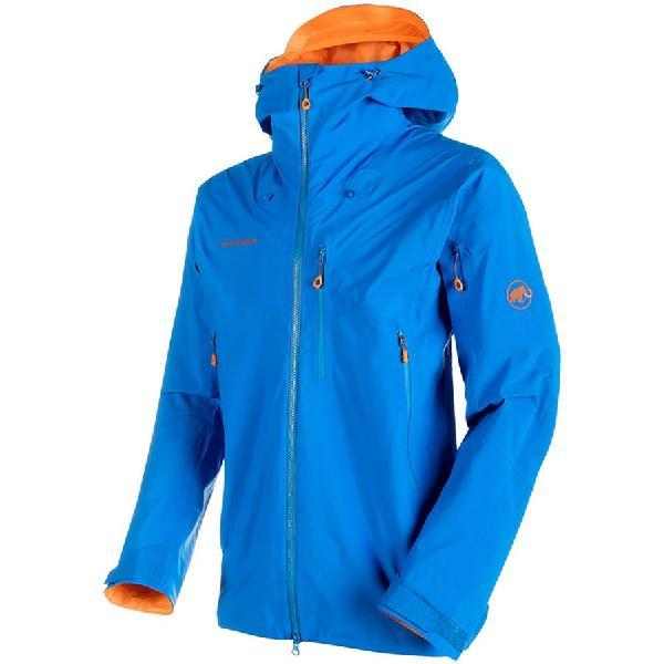 (取寄)マムート メンズ ノードワンド プロ HS フーデッド ジャケット Mammut Men's Nordwand Pro HS Hooded Jacket Sunrise/Ice