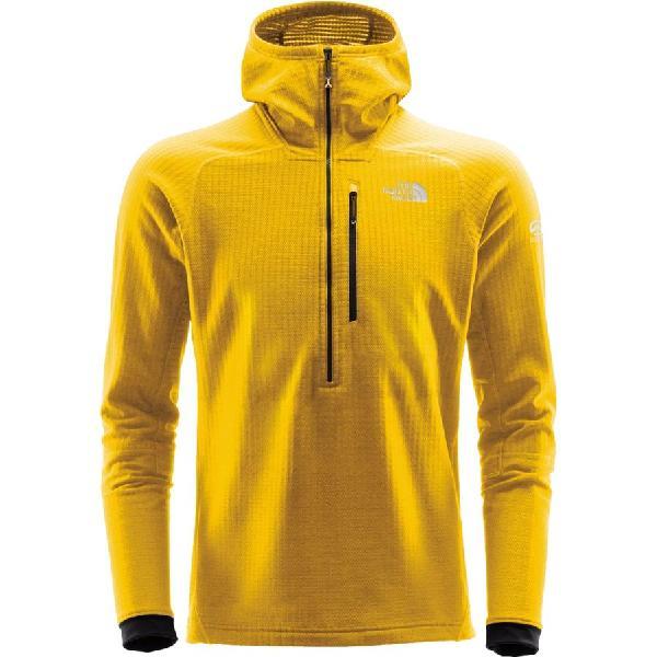 (取寄)ノースフェイス メンズ サミット L2ヒューズフォーム グリッド フリース フーデッド 1/2-Zip ジャケット The North Face Men's Summit L2 FuseForm Grid Fleece Hooded 1/2-Zip Jacket Canary Yellow