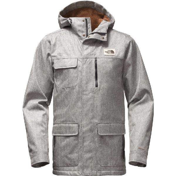 (取寄)ノースフェイス メンズ Cuchillo フーデッド パーカー The North Face Men's Cuchillo Hooded Parka Monument Grey Herringbone