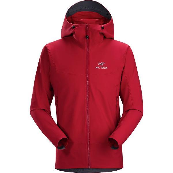 (取寄)アークテリクス メンズ ガマー LT フーデッド ソフトシェル ジャケット Arc'teryx Men's Gamma LT Hooded Softshell Jacket Red Beach