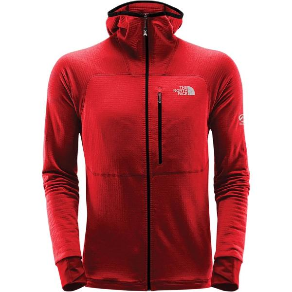 (取寄)ノースフェイス メンズ サミット L2プロプリウス グリッド フリース フーデッド ジャケット The North Face Men's Summit L2 Proprius Grid Fleece Hooded Jacket Fiery Red
