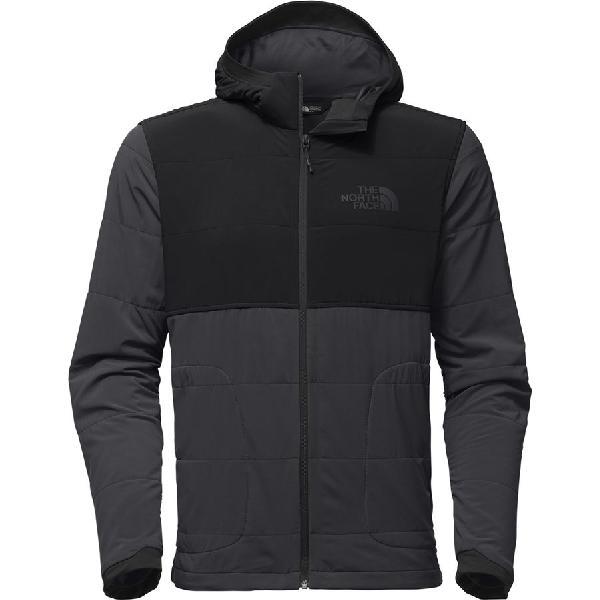 (取寄)ノースフェイス メンズ マウンテン トレーナー フルジップ パーカー The North Face Men's Mountain Full-Zip Hoodie Sweatshirt Asphalt Grey/Tnf Black
