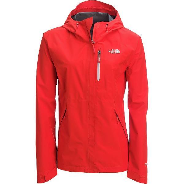 (取寄)ノースフェイス レディース Dryzzle フーデッド ジャケット The North Face Women Dryzzle Hooded Jacket Fire Brick Red/High Rise Grey