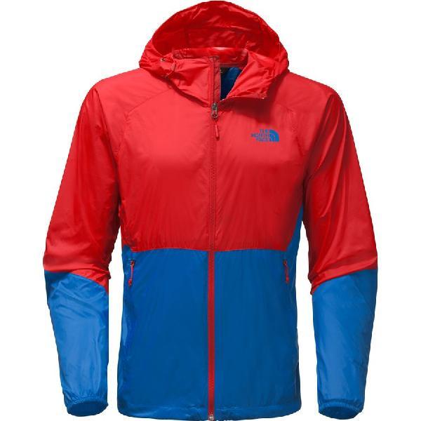 (取寄)ノースフェイス メンズ フライウェイト フーデッド ジャケット The North Face Men's Flyweight Hooded Jacket High Risk Red/Turkish Sea