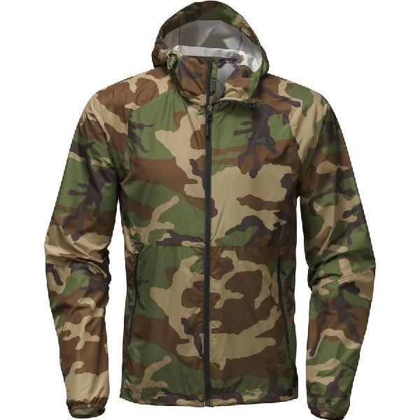 (取寄)ノースフェイス メンズ フライウェイト フーデッド ジャケット The North Face Men's Flyweight Hooded Jacket Terrarium Green Woodland Camo Print