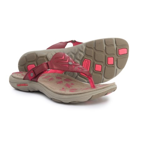 f8cc9f0ca89d (索取)mereruredisu Adhera歌凉鞋Merrell Women Adhera Thong Sandals Cranberry