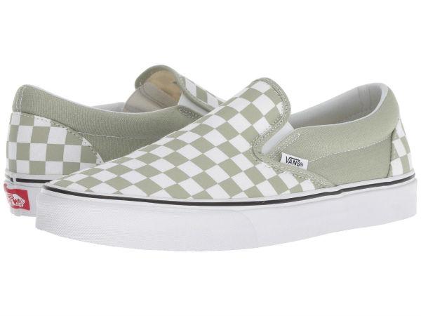 (order) Vans (vans) sneakers classical music slip unisex men gap Dis Vans  Unisex Classic Slip (Checkerboard) Desert Sage True White 2cda30913