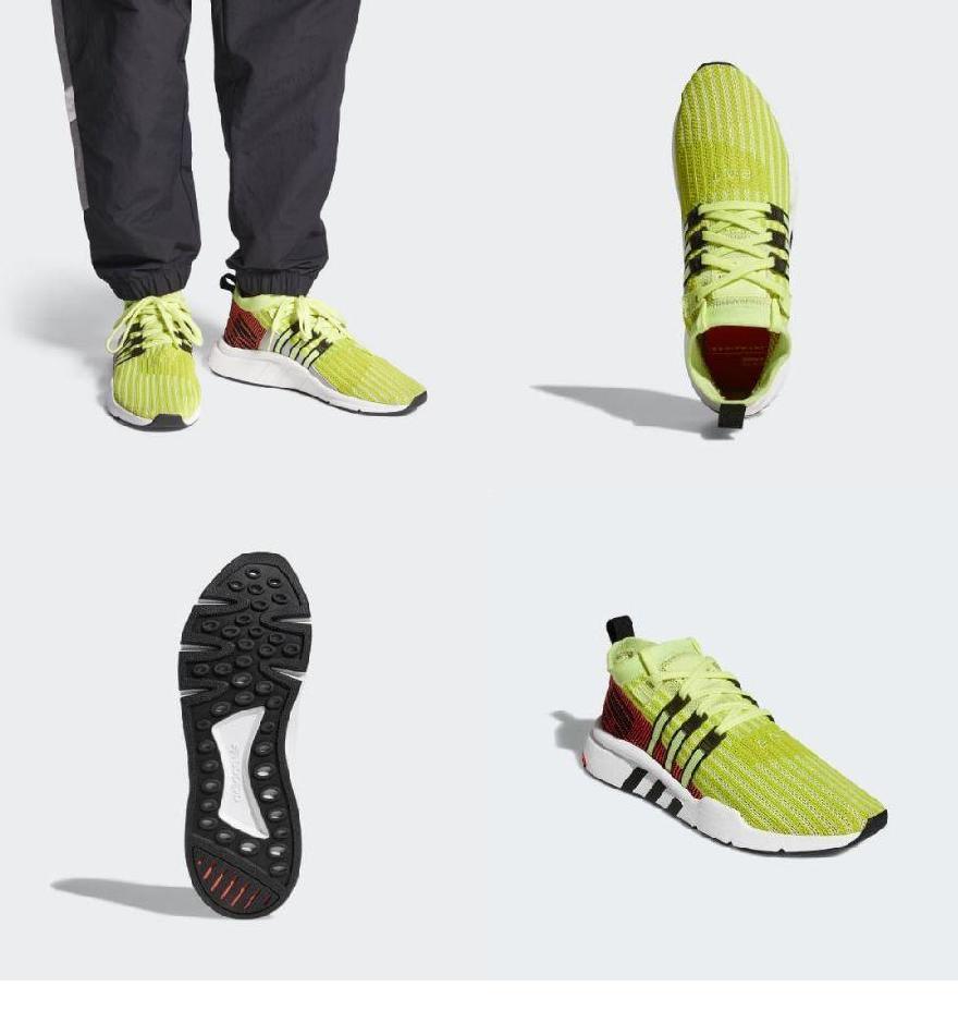 buy online ce5cd 30d30 (order) Adidas originals men EQT support mid Adv prime knit sneakers adidas  originals Mens EQT Support Mid ADV Primeknit Shoes Glow  Core Black   Turbo