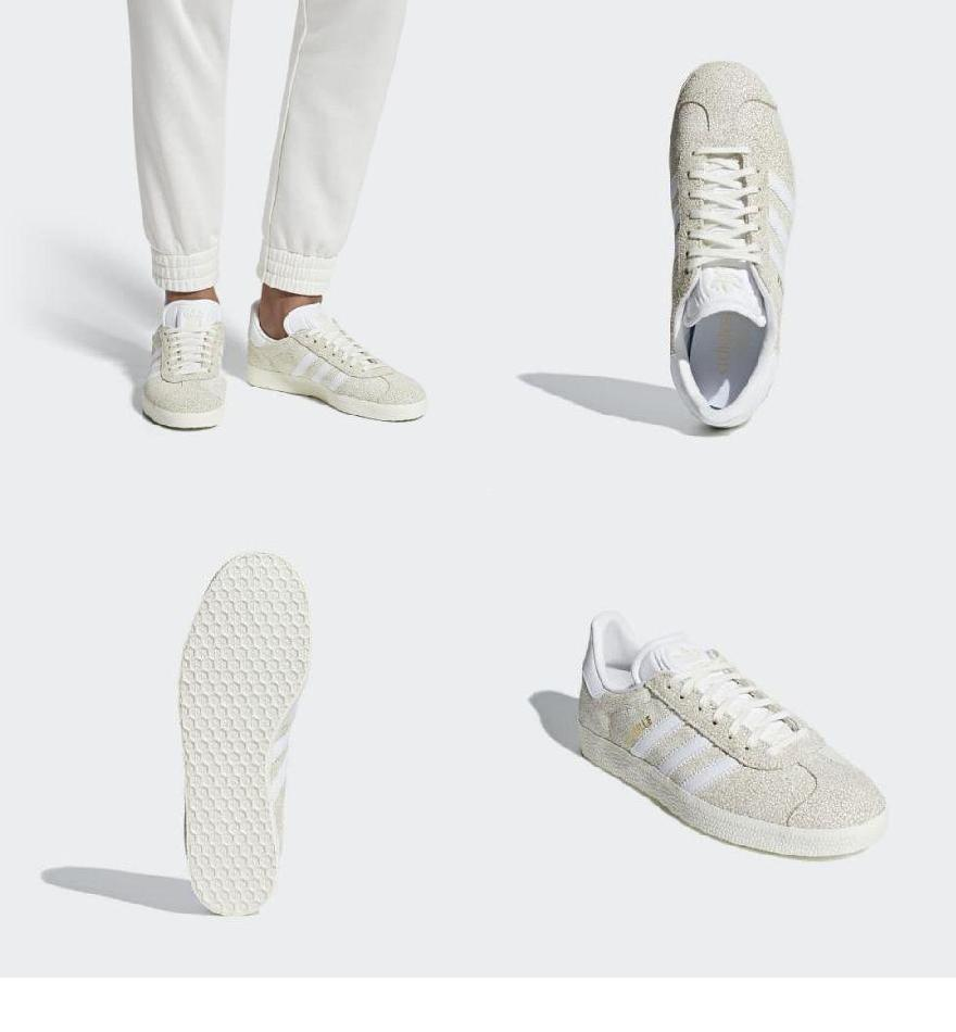 Adidas gazelle グレーホワイトの商品一覧 通販 Yahoo